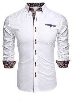 303be664958 Coofandy Men s Fashion Slim Fit Dress Shirt Casual Shirt Material Cotton  Blend Style Fashion