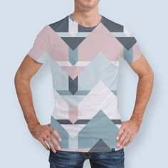 Discover «Scandi Waves», Numbered Edition Men's All Over T-Shirt by DesigndN - From 37€ - Curioos
