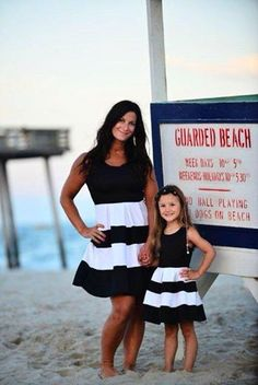 How cute is this mother daughter duo?!?!  Matching mommy and me dresses from Be Inspired Boutique.