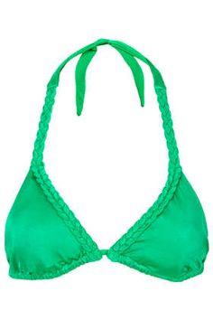 Green Triangle Bikini Top - Swimwear  - Clothing