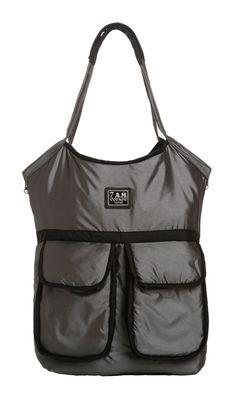 Our Barcelona Diaper Bag Metallic Charcoal