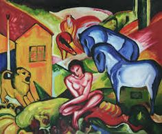 Cheap oil painting acrylic, Buy Quality oil painting collection directly from China oil painting modern art Suppliers: Handmade Figurative Abstract Oil Painting for Wall Decor - The Dream by Franz Marc, Canvas Home Decoration Painting Horizontal Franz Marc, Wassily Kandinsky, Cavalier Bleu, Expressionist Artists, Neo Expressionism, Oil Painting Reproductions, Online Painting, Oil Painting Abstract, Munich