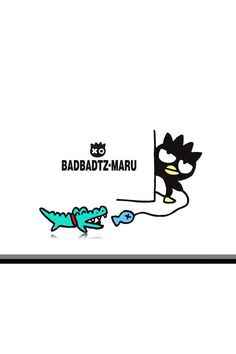 Badtz-Maru luring in a crocodile