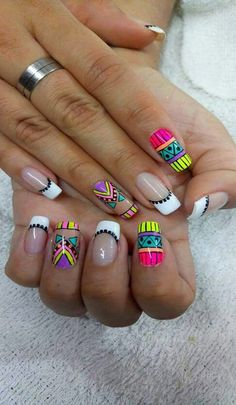 Your day starts but you are still resting in the bed? We want to demonstrate 10 fast techniques for getting your glow on. Fancy Nails, Cute Nails, Pretty Nails, Indian Nails, Diva Nails, Neon Nails, Toe Nail Designs, Stylish Nails, Nail Manicure