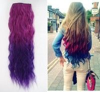 I think you'll like 2015 new fashionable Ombre gradient Color rose red to dark purple Clip in Hair Extension 55cm length loose curl for Chrismas fashion party girl. Add it to your wishlist!  http://www.wish.com/c/53de1c654497c5580c26c0a6