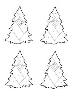 The Born Doodler: Iris Folding Christmas Tree Pattern