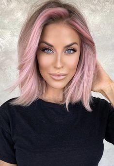 Purple Hair, Ombre Hair, Blonde Hair, Medium Hair Styles, Short Hair Styles, Look 2018, Hair Color And Cut, Balayage Hair, Haircolor