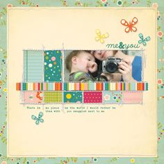 me & you - I have the perfect picture of Marley and I for a layout like this,