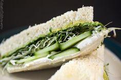 cucumber, avocado, sprouts, cream cheese