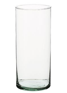 Cylinder Vase Recycled Glass 8.25in