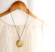 Large Vintage Locket, Boho jewelry, Locket pendant, Victorian Jewelry, Gold pendant