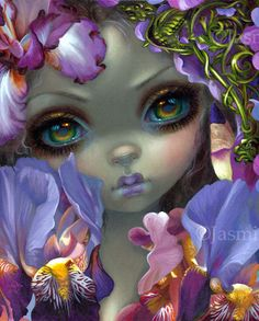The Language of Flowers III: Irises fairy art print by Jasmine Becket-Griffith 8x10 iris victorian floriography by strangeling on Etsy https://www.etsy.com/listing/506287435/the-language-of-flowers-iii-irises-fairy
