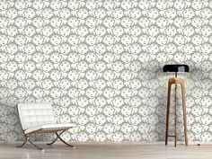 Design #Tapete Babysprache Design, Self Adhesive Wallpaper, Wall Papers, Monochrome, Nice Asses