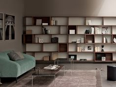 Libreria componibile in legno E-WALL by ESTEL GROUP | design Alberto Stella