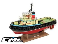 """The Hobby Engine Southampton Tug Boat is a radio control boat in the Hobby Engine RC Boats range.  Scaled down to the smallest detail """"Southampton"""" is a beautiful re-creation of those workhorses of ocean boats, the Tug. Features of this RC Boat include real rubber scale tyres around the outside, finely detailed cabin area, scale paint scheme and authentic style twin propellers for those high torque pulls. Never before has so much detail been available in a ready-to-run model."""