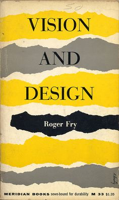 Vision and Design, book cover, ©1956 / Design: Elaine Lustig Cohen