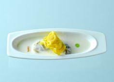 Tortellini au pesto, huîtres, crème de parmesan.