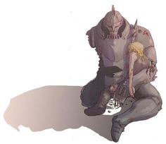 Image result for fullmetal alchemist edward kneeling