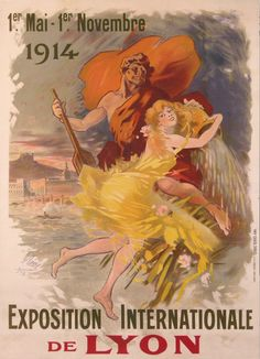 JULES CHÉRET (1836-1932) Poster for the Lyon International Exposition of 1914.
