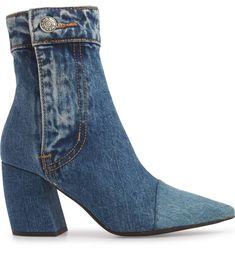 Finite Block Heel Bootie, Alternate, color, BLUE DENIM Shank Button, Jeffrey Campbell, Blue Denim, Block Heels, Nordstrom, Booty, Pairs, Zip, Stylish