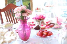 Valentine's Party thrown for girlfriends by Three Pixie Lane. #hightea