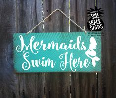 mermaid sign mermaid decor mermaid decoration by SurfShackSigns Little Mermaid Nursery, Little Mermaid Bathroom, Mermaid Nursery Decor, Mermaid Bathroom Decor, Mermaid Bedroom, The Little Mermaid, Bathroom Ideas, Hall Bathroom, Disney Bathroom