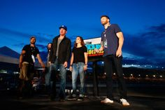 Clint Bowyer, Danica, and Joel McHale appear on stage for The Soup, Talladega, 10/24/15.