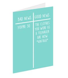 12 Brutally Honest 30th Birthday Cards