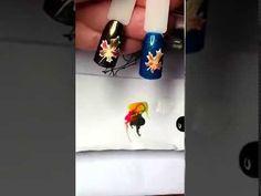 Юлия Билей - Осенние листья / Julia Biley - Autumn leaves nail art Periscope - YouTube