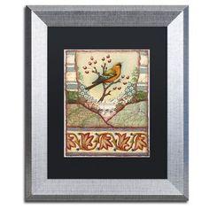 "Trademark Art ""Tisbury Bird"" by Rachel Paxton Framed Graphic Art"