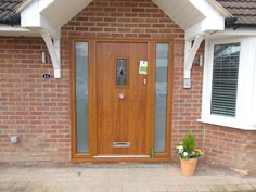Golden Oak Solidor with matching side lights Heritage lock and Satin glass fitted in Chesham by Rock Solid Doors Oak Front Door, Glass Fit, Solid Doors, St Albans, Oak Doors, Golden Oak, House Front, Garage Doors, House Ideas