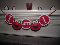 Elmo Birthday Party Elmo I am 1 high chair by CreativePartyBanners, $12.00