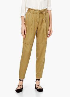 Spodnie tkanina soft -  Kobieta | MANGO