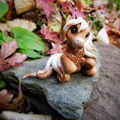 Christmas Gingerbread Palomino Filly By Whisper Fillies Whisperfillies.etsy.com Unique handmade polymer clay horse, pony, unicorn and fantasy creatures Find me on Instagram and Facebook too!
