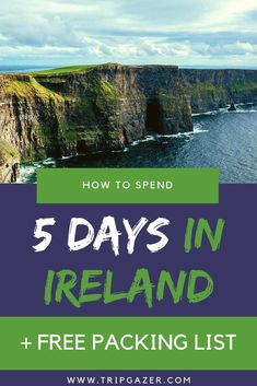 There is no perfect number of days to spend in Ireland. From the countryside to castles, you could spend a lifetime exploring every corner! If you only have five days or so, you'll want to spend your time wisely. Here are some tips on what to see in Ireland in five days!   #ireland #dublin #travel #packing #irish