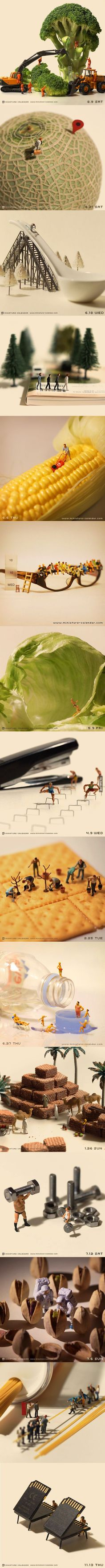 Miniature Calendar by Tanaka Tatsuya - 9GAG