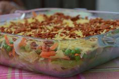 7-Lagen salade: 200 gr. Mag. Geb. spekjes 1 b. bosuitjes1 kl. kr. ijsbergsla 4 el. Remia friteslijn 4 el. magere yoghurt 2 el. melk 1 el. verse dille Zout en peper 1 bakje wortelrauwkost 150 gr. diepvrieserwten 75 gr. ger. belegen kaas Bereiding: Bosuitjes in ringetjes snijden, Sla in reepjes snijden. sausje: Mayonaise, yoghurt, melk, zoetstof en dille. In glazen schaal lagen maken: sla, wortel, bosui, erwten, sausje en kaas en Spek. Eet smakelijk! Recept van Karen
