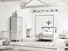 Neptune Wardley Four Poster King Bed Bed Frames Uk, Four Poster Bed Frame, Low Chest Of Drawers, Painted Beds, Painted Bedroom Furniture, Selling Furniture, King Beds, Living Room Sofa, Bedrooms