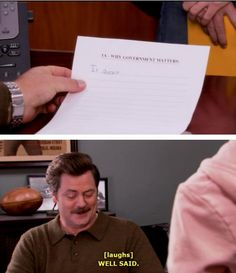 Parks and Recreation why does government matter? It doesn't.