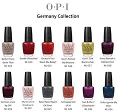 opi germany collection...summer/fall 2012
