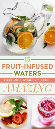 Three more ways to make infused water to drink this summer: cucumber-melon, berry-rosemary and mango-basil. Know more about the refreshing and delicious fruit infused water recipes and the health benefits. Detox Drinks, Healthy Drinks, Healthy Snacks, Healthy Eating, Healthy Recipes, Healthy Water, Breakfast Healthy, Fruit Detox, Detox Foods