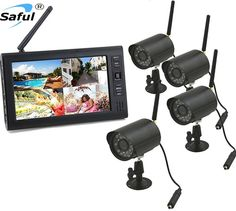 240.99$  Buy now - http://aliifx.worldwells.pw/go.php?t=32403387565 - Digital wireless 2.4GHz Surveillance Camera & DVR Outdoor security camera system CCTV Surveillance  camera with 4 cameras 240.99$