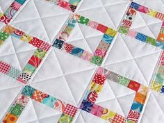 A scrap-busting quilt for a wee one