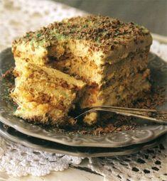 Resep: Pepermenttert | Maroela Media Tart Recipes, Easy Cake Recipes, Sweet Recipes, Baking Recipes, Yummy Recipes, Custard Recipes, Baking Desserts, Milk Recipes, Baking Tips