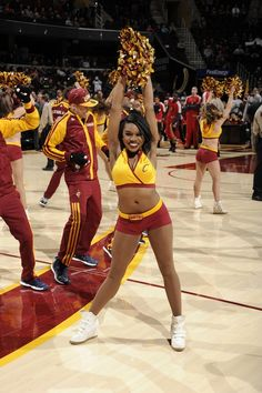 cleveland cavaliers girls pinterest | The Cavalier Girls perform during a Cavaliers game at Quicken Loans ...