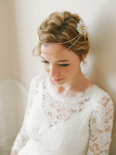 crystal headband wedding headpiece bridal hair by woomeeBridal