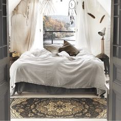 bedroom by the lake, Beautiful Credit: @atmycasa by presented by SuperiorCustomLinens.com