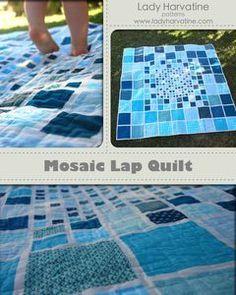 Mosaic Lap Quilt PDF Pattern $8