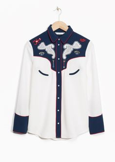 & Other Stories image 2 of Beaded Ranch Shirt in Off white