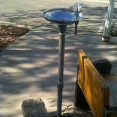 A Wisconsin Bubbler ~ Yes, I call it a bubbler, LOL...It is a bubbler............lol. These use to be all over the place, at picnic areas, and downtown Cleveland, every block had them then.